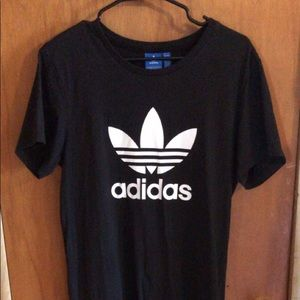 black adidas originals t shirt dress NWOT